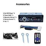Noradtjcca RK-522 Lettore di schede SD per Auto Dvd per Auto Lettore MP3 per Auto USB con Pannello Sintonizzatore FM Aux nel Telecomando