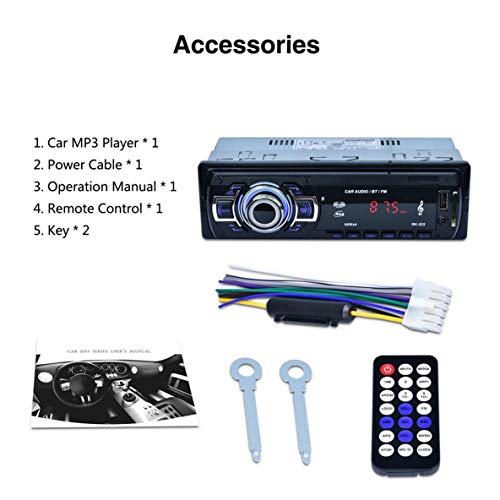 RK-522 Car DVD SD Card Reader USB Car MP3 Player with Bluetooth Panel FM Tuner Aux in Remote Control