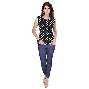 SAARVI FASHION Casual Sleeveless Printed Women's Top