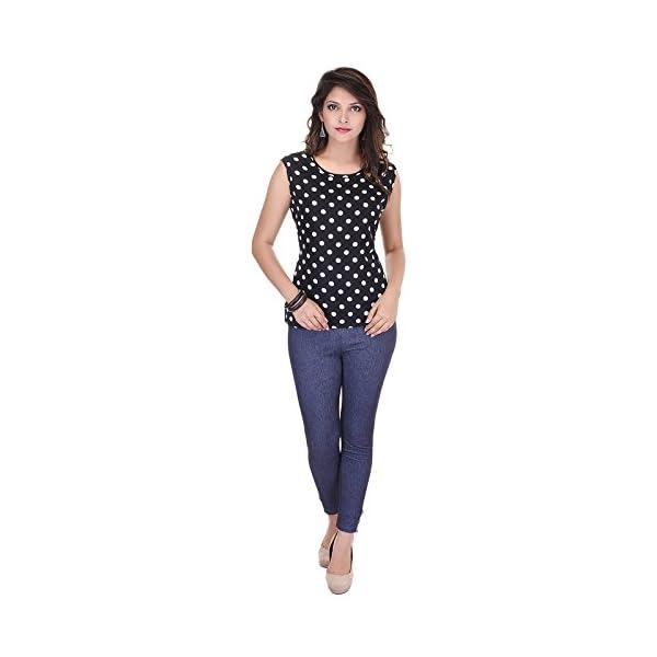SAARVI FASHION Casual Sleeveless Printed Women's Top