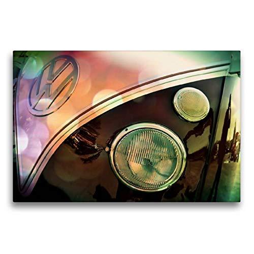 Calvendo Premium Textil-Leinwand 75 cm x 50 cm quer, Oldtimer aus Deutschland | Wandbild, Bild auf Keilrahmen, Fertigbild auf echter Leinwand, Leinwanddruck: Volkswagen T1 1966 Mobilitaet Mobilitaet