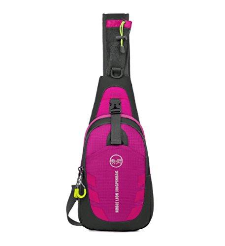 BULAGE Tasche Draußen Brusttasche Messenger Multifunktions Lässig Tragbar Päckchen Sport Taschen Pink