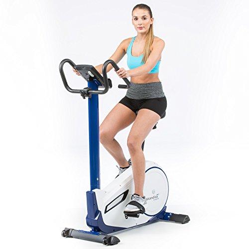 skandika Ergometer Morpheus, Fitnessbike, Heimtrainer mit Bluetooth, Pulsgurt, 32 einstellbare Widerstandseinstellung und Multifunktionscomputer mit Kalorienverbrauch, Puls - 5