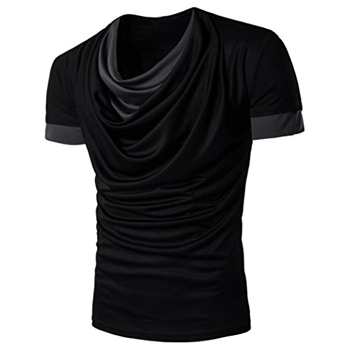 (Shirt Herren Kanpola Fitness Slim Fit Mode Einfarbige Kurzarm T-Shirt Tee Bluse Top)