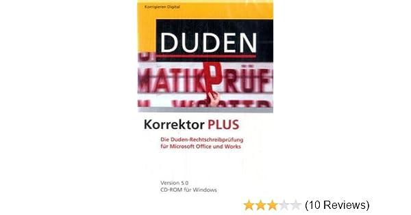 Duden Korrektor 50 Plus Amazonde Software