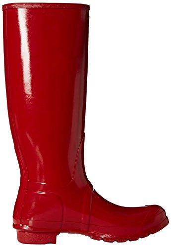 Hunter Original Tall Gloss, Damen Stiefel Rot (Military Red)