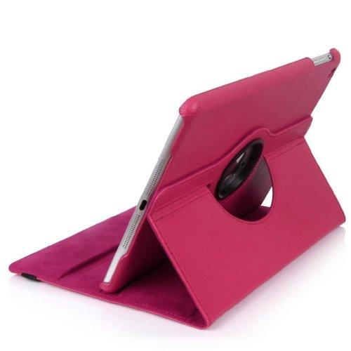 E2G Case Étui ® Étui iPad en cuir PU rotatif à 360 °, rabat avec support pour le nouvel iPad Air (iPad 5 de Nov 2013)