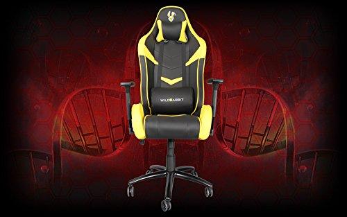 Wildrabbit Racer Gaming Stuhl Chair Sessel Bürostuhl Ergo Sessel Chefsessel mit Armlehnen, gepolstert