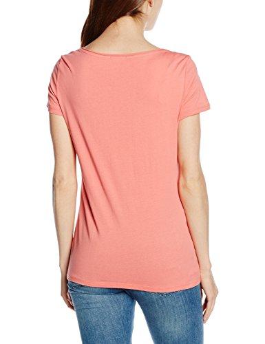 Esprit 056ee1k040-Printed, T-Shirt Femme Rouge (CORAL 645)