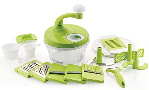 Ankur Plastic Turbo Speed All in One Food Proccessor, 15 Pieces, Green