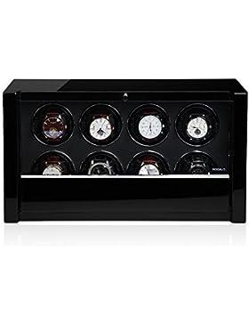 Modalo Unisex Zubehör Uhrenbeweger für 8 Automatikuhren verschiedene Materialien schwarz 3908113