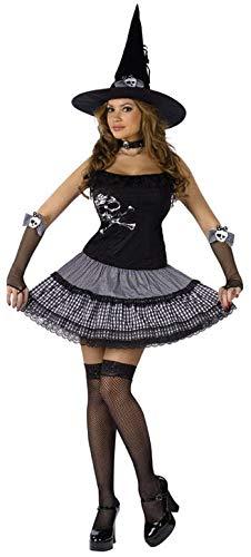 Horror-Shop Funky Punk Hexe Gr. - Funky Hexe Kostüm