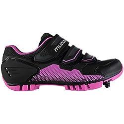 Muddyfox Mujer MTB100 Cycling Shoes Negro/Rosa 41