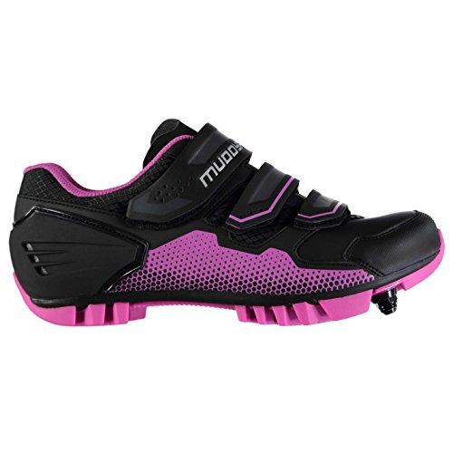 Muddyfox MTB100 Damen Fahrradschuhe Wasserdicht Radsport Schuhe Radschuhe Schwarz/Pink 5 (38)