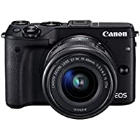 Canon EOS M3 24MP HD Digital SLR Camera with 15-45mm Lens with 3x Optical Zoom (Black)