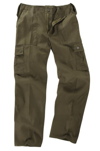 Youths / Kids Military Combat Cargo Trousers - Olive