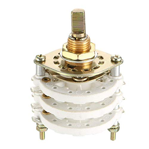 ZCHXD 3P6T 3 Pole 6 Position 3 Deck Band Channel Rotary Switch Selector -