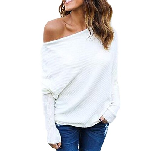 erfrei Strickpullover Lose Batwing Langarm Sweater Pullover Jumper ()