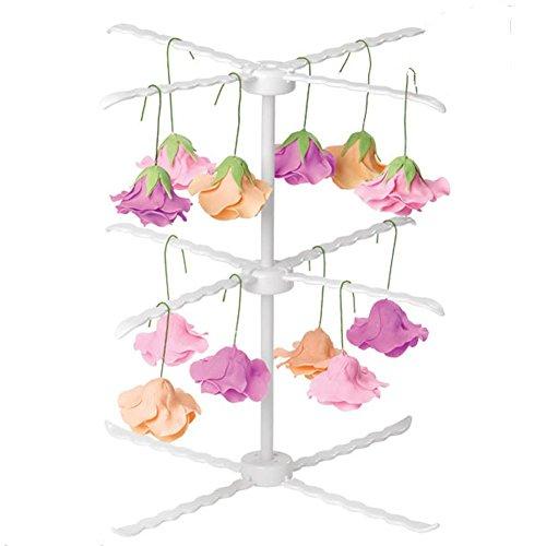 heständer Blume zubehör 3 Tiers Zuckerpaste küche Wäscheständer Fondant Kuchen Cupcake Puderzucker Sugarcraft Trockenen Ständer Backenwerkzeuge (Kunststoff 3-tier-kuchen-stand)