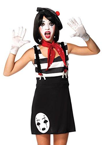 Leg Avenue J49073 - Miss Mime Kostüm Set, 4-teilig, Größe S/M, schwarz/weiß