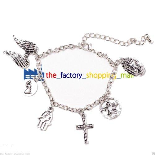 Ispirato Supernatural TV Show Jewelry Dean Winchester placcato in argento Sterling braccialetto con protezione 6