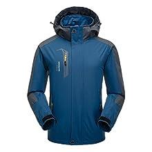 Naudamp Men's Outdoor Water-Resistant Jacket Lightweight Softshell Rain Coat Climbing Hiking Clothes Mountain Multi-Pockets Windbreaker