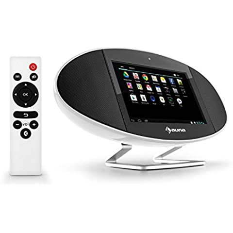 auna Swizz 3G centro multimedia (mediacenter con Android 4.4, WiFi, Bluetooth, AirPlay, DLNA, HDMI, USB, SD, pantalla táctil 7