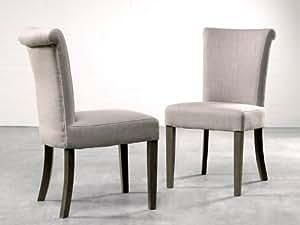 VERONA totale chaise en chêne flax canett lin