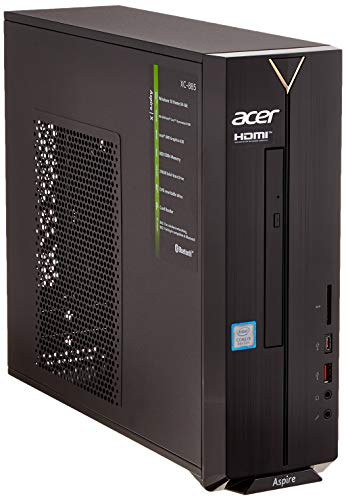 Acer Aspire XC-885 Desktop PC (Intel Core i3-8100, 8GB RAM, 256GB PCIe SSD, Intel UHD, Win 10 Home) schwarz