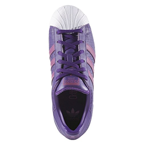 Adidas Youths Superstar F37790 Leather Trainers Violet