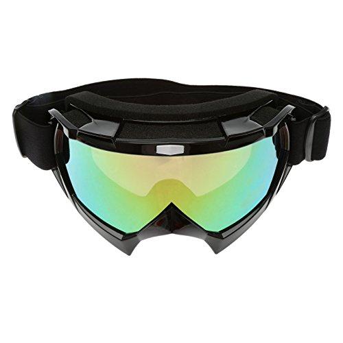 Motorrad Motorcross Brillen Schutzbrillen für Outdoor Skifahren Snowboard - Schwarz Rahmen