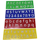 Rangebow Stencils Simple & capital English Alphabet, Numbers and Punctuation Mathematical Symbols Plastic Stencils All in One Set