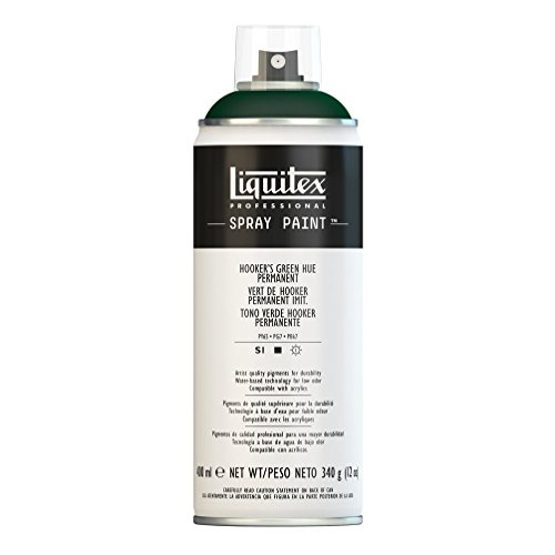 Liquitex  Professional Spray Paint - Acrylfarbe, Farbspray auf Wasserbasis, lichtecht, 400 ml - Hookers - Grün permanent Imit.