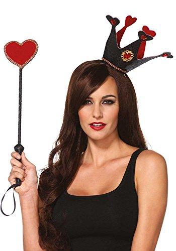 Leg Avenue Kit Herz-Königin schwarz/rot Einheitsgröße (Queen Kostüme Kit)