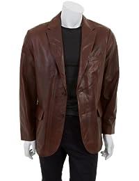 Manchini - Hommes cuir de luxe de veste