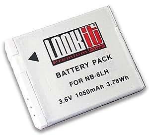 LOOKit® Premium Batterie LI-ION - NB-6LH / 1050mAh pour Canon PowerShot SX520 HS, Canon PowerShot SX600 HS, Canon PowerShot S200, Canon PowerShot SX700, Canon PowerShot D30, Canon PowerShot SX510 HS, PowerShot S120, Canon PowerShot SX170 IS