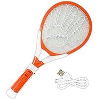 USB Rechargeable Zapper Racket électronique Anti-moustique tapette à mouche Insectes électrique Bat avec lampe LED pour l'intérieur extérieur