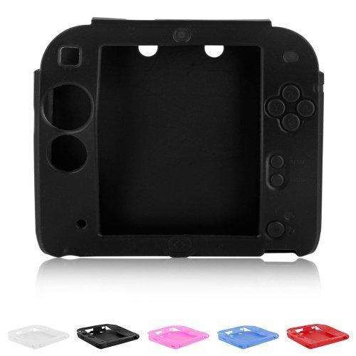Skque??Soft Silicone Skin Case Cover for Nintendo 2DS, Black by Skque