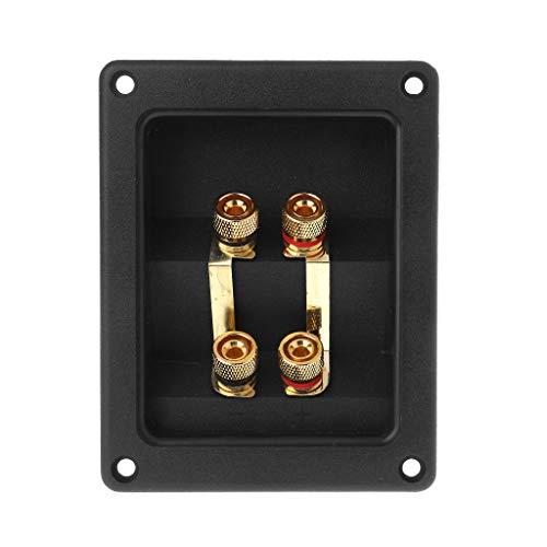 Terminal-Cup Connector 266 Teile Express Binding Pfosten Gold Banana Stecker versenkt Bi-Amp Lautsprecher Box schwarz -