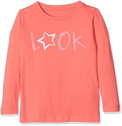 TOM TAILOR Kids Mädchen T-Shirt Longsleeve with Glitter Print Rosa, 122 (T-shirt Print Glitter)