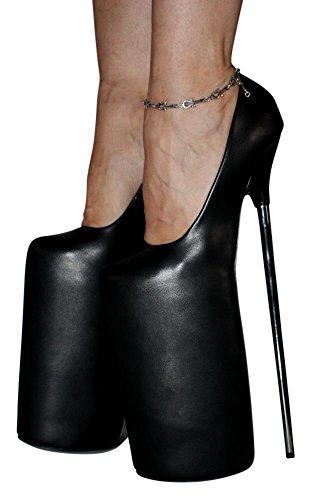Erogance 30cm Extrem Plateau High Heels Pumps, Scarpe col tacco donna nero