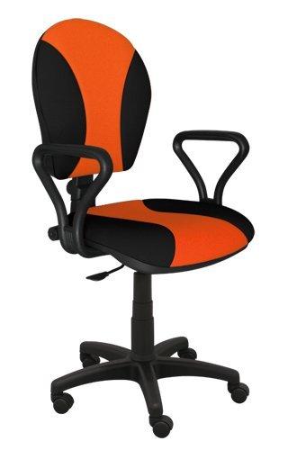 Best For Office Bürostuhl Höhenverstellung Schreibtischstuhl MARKO Modell (SCHWARZ-ORANGE)