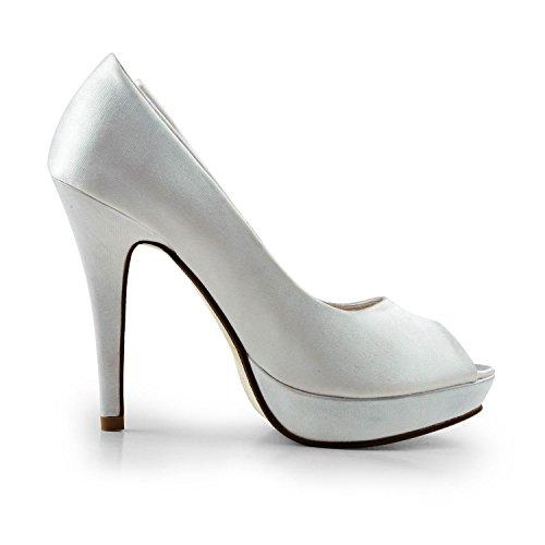 Miyoopark , Peep-Toe femme White-11.5cm Heel