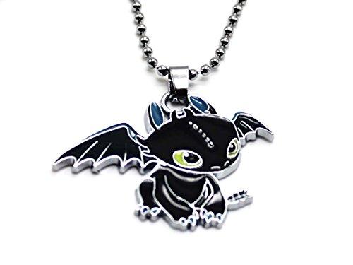 Preisvergleich Produktbild Drachenzähmen leicht gemacht Halskette mit süßem Ohnezahn Drachen Anhänger