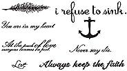 Beautiful alphabetic character Pattern Waterproof Temporary Tattoo Sticker for Adults Kids Body Art Women/Man