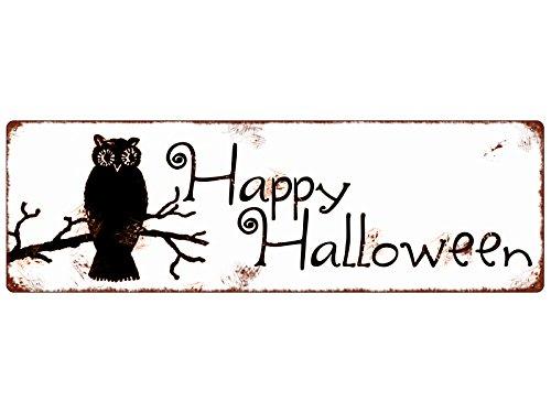 hild Türschild HAPPY HALLOWEEN * 1 * Eule Gruselig Türschild (Happy Halloween-zitate-sprüche)