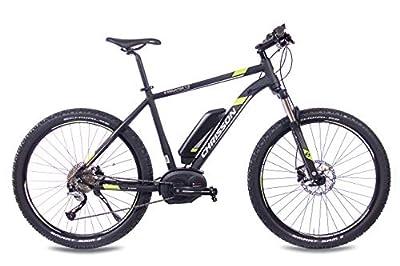 CHRISSON 27,5 Zoll E-Bike Mountainbike - E-Mounter 1.0 schwarz - Elektrofahrrad, Pedelec für Damen und Herren mit Performance Line Motor 250W, 63Nm - Intuvia Computer und 4 Fahrmodi
