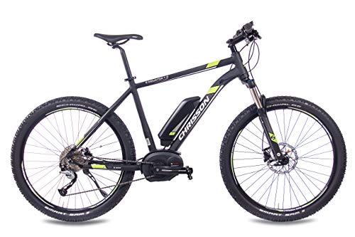 CHRISSON 27,5 Zoll E-BIKE Mountainbike Pedelec Elektrofahrrad E-MOUNTER 1.0 BOSCH PLINE & ACERA 3000 schwarz 52 cm
