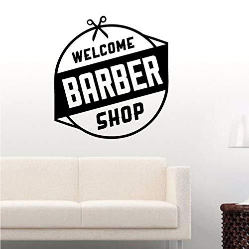 Fushoulu 40X40 Cm Barber Shop Aufkleber Hacken Brot Aufkleber Haarschnitt Rasierer Poster Vinyl Wandkunst Aufkleber Dekor Fenster Dekoration Wandbild