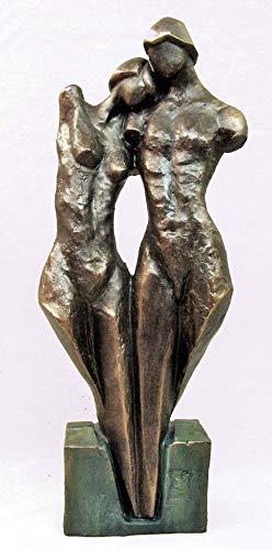 Scultura di bronzo sintetico, nudo uomo e donna, di Lluis Jordà